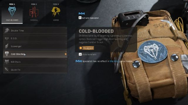 Cold Blooded Warzone Perk
