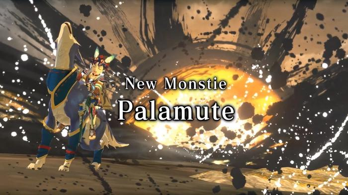 A Rider riding a Palamute in the Monster Hunter Stories 2 Launch Trailer
