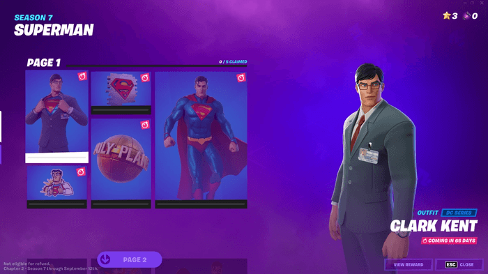 The Superman Fortnite skin goes live in the game two days before the scheduled date.