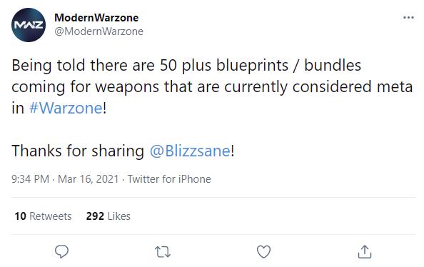 Warzone meta blueprints