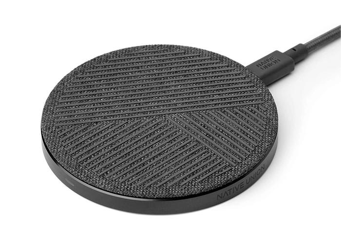 best wireless chargers, product image of a black charging pad