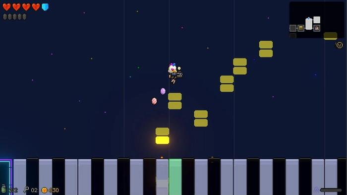 Some levels have unique features, like this piano one