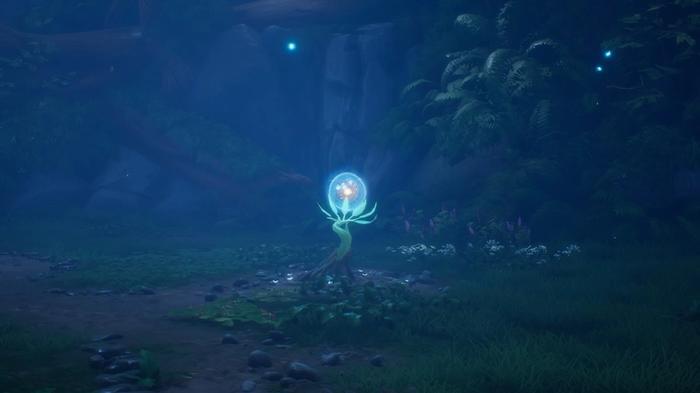 Kena: Bridge of Spirits, A Forest Tear fully formed plant as seen through a Spirit Mask