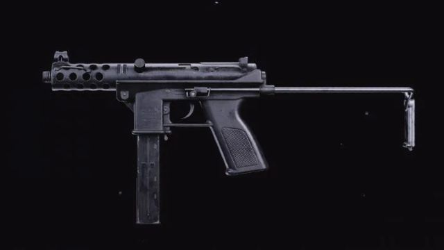 TEC 9 SMG from Black Ops Cold War on Black Background