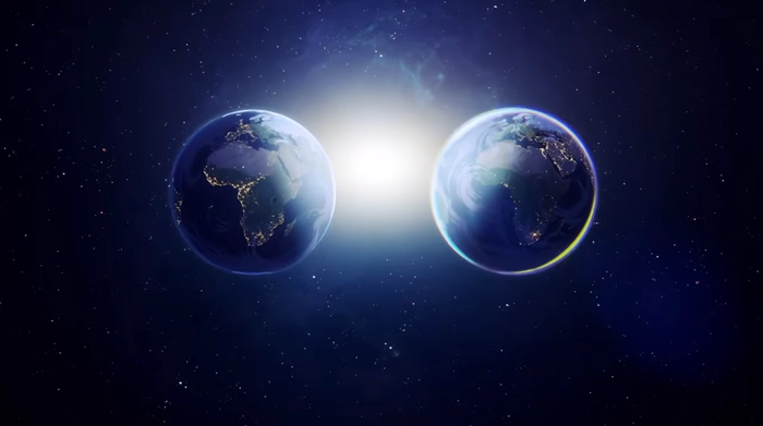 The two worlds shown in the video