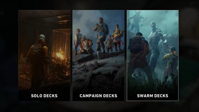 Back 4 Blood deck select screen for each game mode
