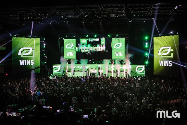 OpTic Gaming Call of Duty Team Winning On The Main Stage In Front Of Crowd