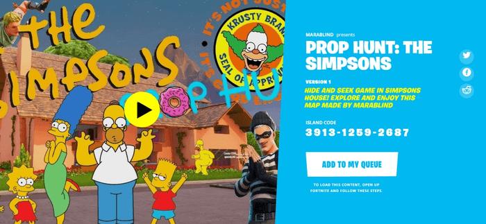 Fortnite The Simpsons Prop Hunt  (Image via Epic Games)