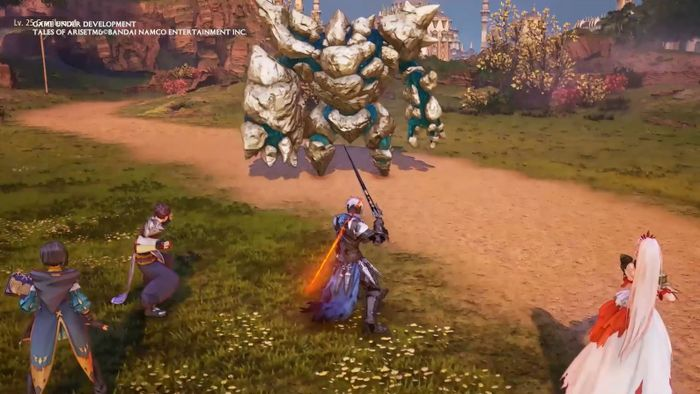 Tales of Arise combat with Rinwell, Law, Alphen and Shionne