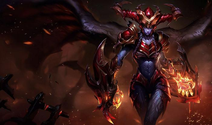 Shyvana from League of Legends.