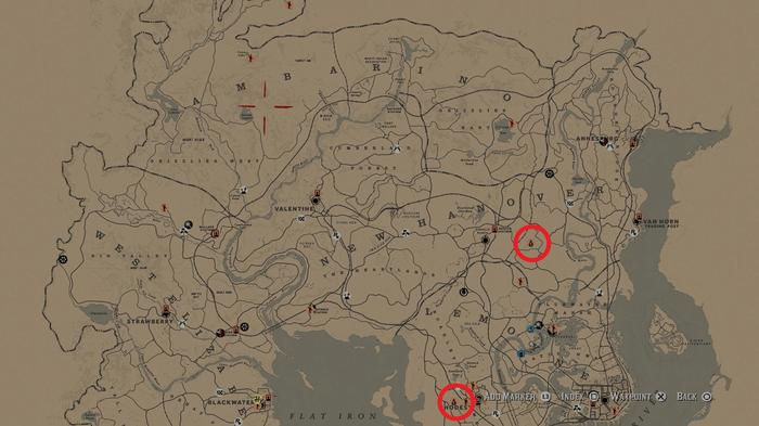 Red Dead Online Blood Money Update map locations