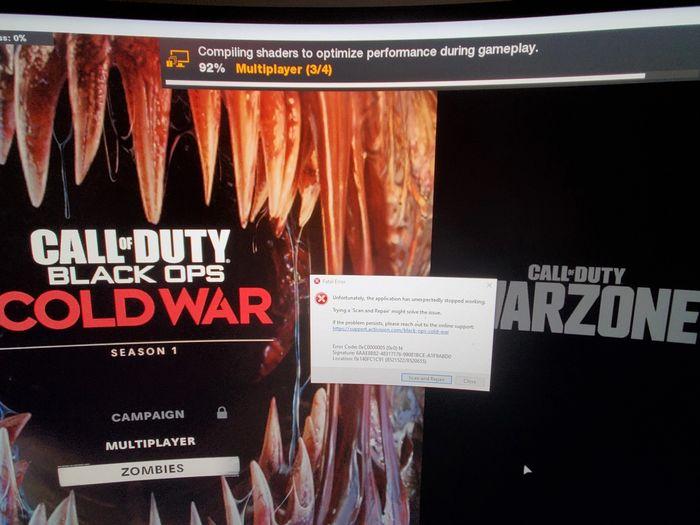 Black Ops Cold War Fatal Error Update 1.11