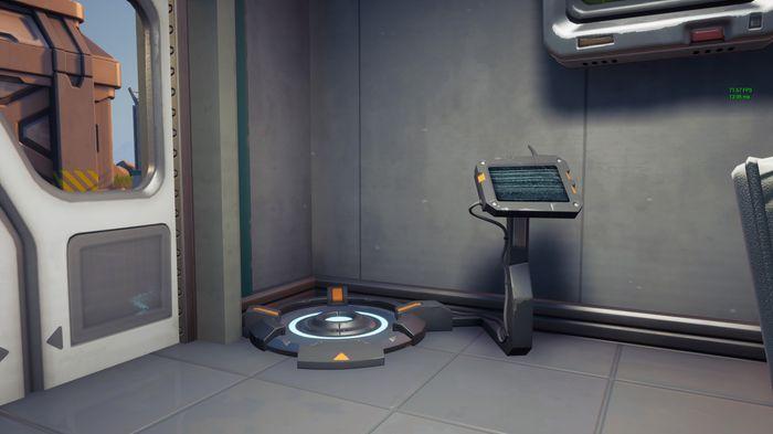 The body scanner in Fortnite. Image via Epic Games