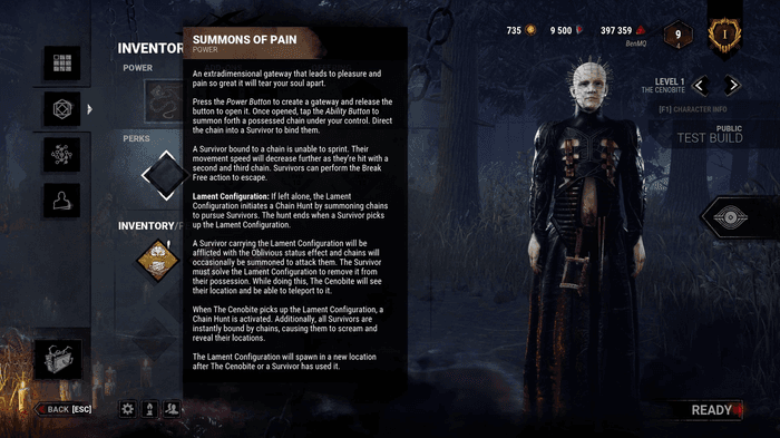 The Cenobite from Dead by Daylight