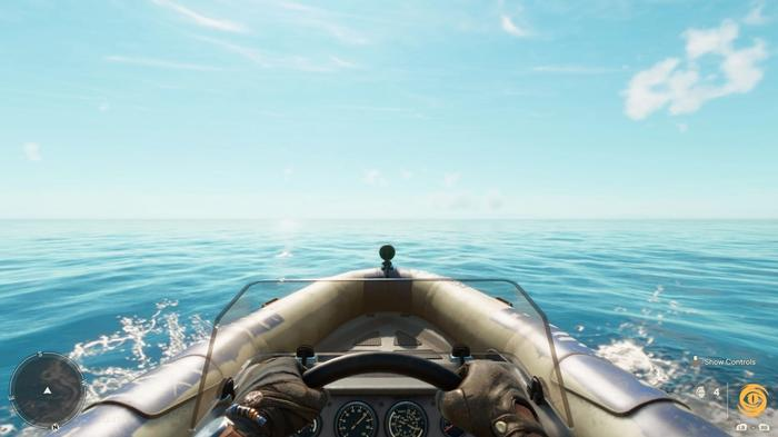 Going out of the bounds of Yara's map, on a boat, to experience the secret ending of Far Cry 6.