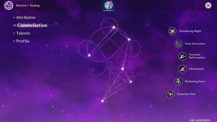 Keqing's Constellation Menu