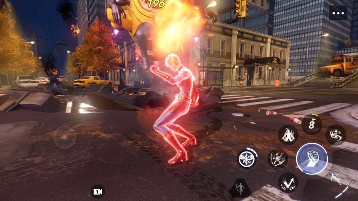 Marvel Future Revolution PC gameplay running on the Bluestacks emulator.