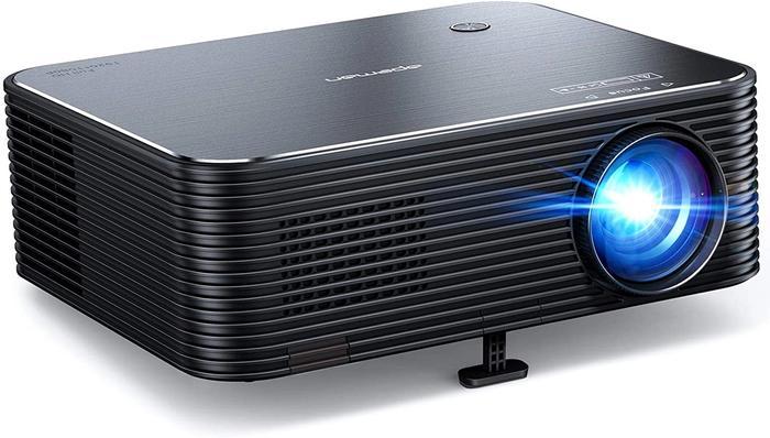 Best Projector Under 200 Apeman, product image of black projector