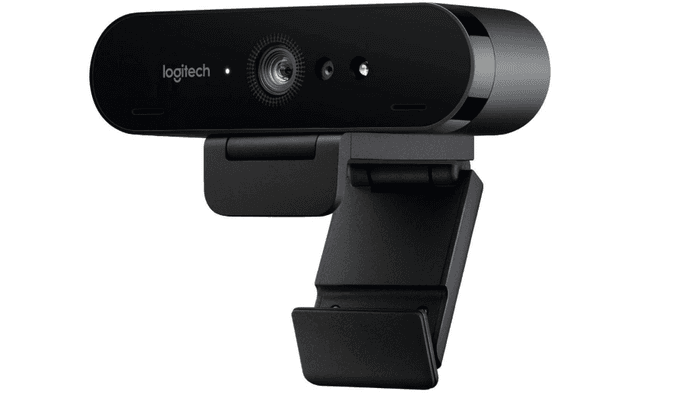 best webcam, product image of a black oval webcam with plastic stand