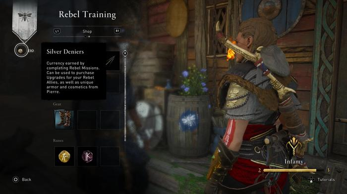 Pierre's shop in Assassins Creed Valhalla Siege of Paris with money tutorial