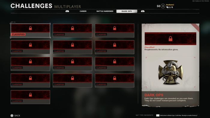 Black Ops Cold War Multiplayer Dark Ops Challenges