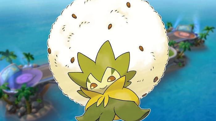 Pokémon Unite Eldegoss build portrait.