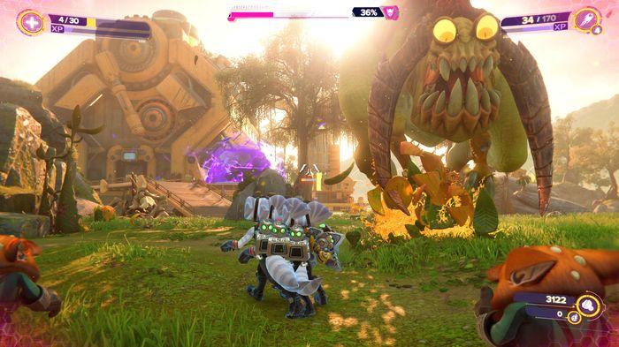 Ratchet and Clank Rift Apart Grunthor boss fight