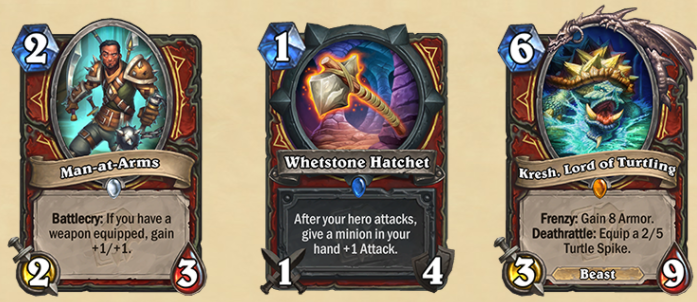 The new Warrior cards.