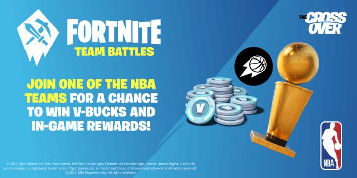 Fortnite NBA Team Battle Challenge prizes