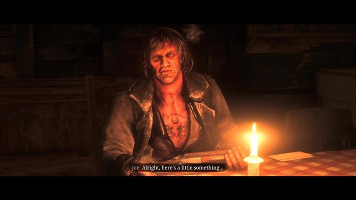 Cutscene with Joe the Stranger in Red Dead Online