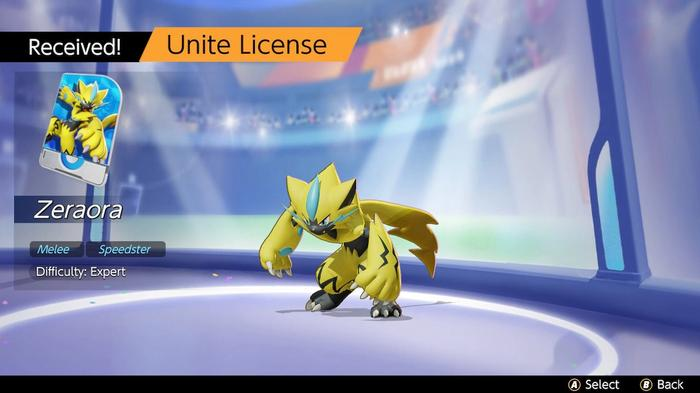 How to obtain Zeraora in Pokémon Unite.