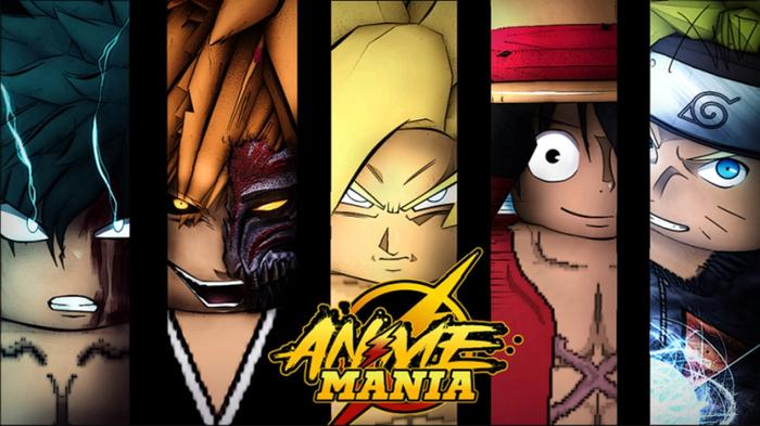 A side-by-side face lineup of Anime Mania characters