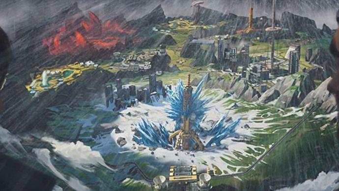 Apex Legends original World's Edge artwork