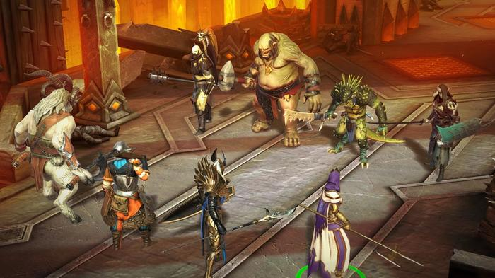 Orcs, lizards and elves preparing to battle in Raid: Shadow Legends