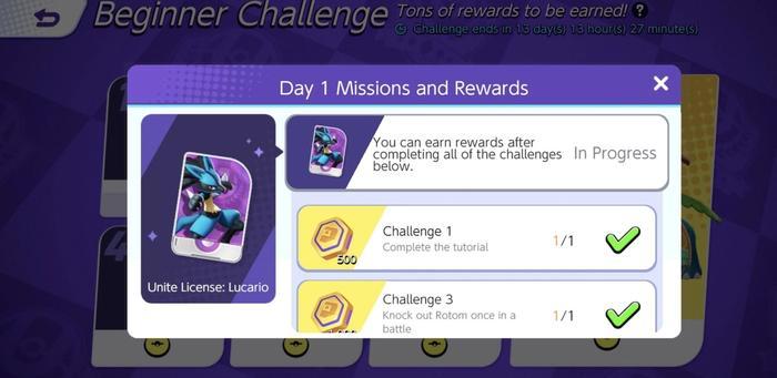 A list of missions that reward Pokémon Unite Aeos Coins.