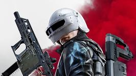 Screenshot from PUBG New State, showing a helmet-wearing character holding a gun