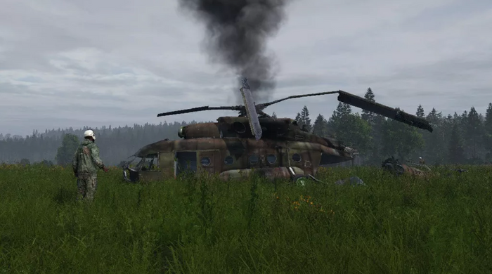 DayZ Russian Helicopter Crash Site