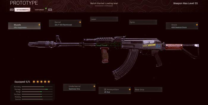 AK-47 Black Ops Cold War Warzone Class