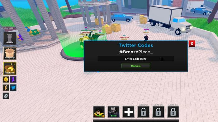How to redeem Ultimate Tower Defense Simulator codes in-game.