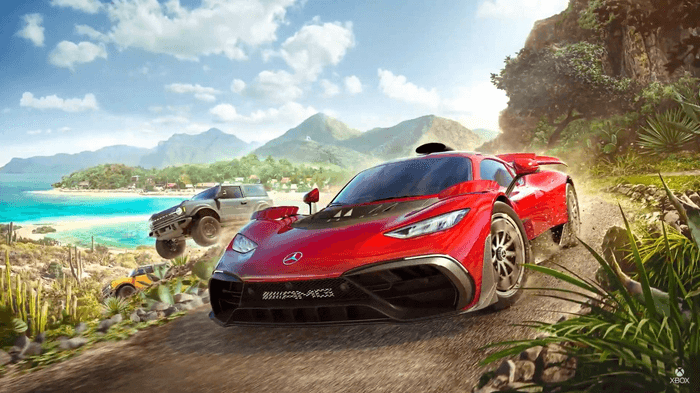 Image showing Forza Horizon 5 cover, Mercedes AMG1 and the 2021 Ford Bronco Badlands