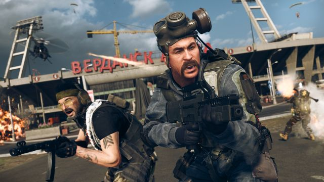 Captain Price And Woods In Front of Verdansk Stadium