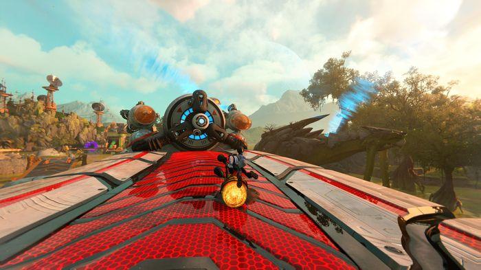 Ratchet and Clank Rift Apart Seekerpede flight stabilizer