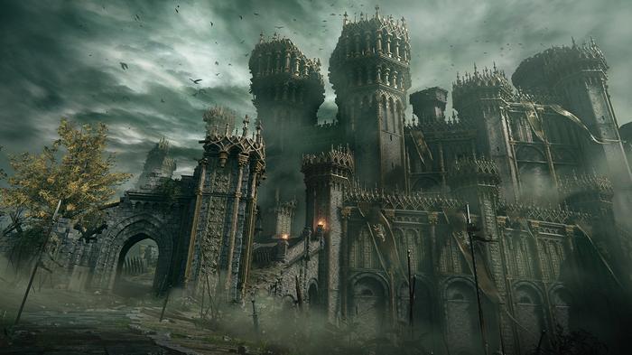 "<img src=""ER10.jpg"" alt=""outer image of castle amidst a gloomy sky"">"