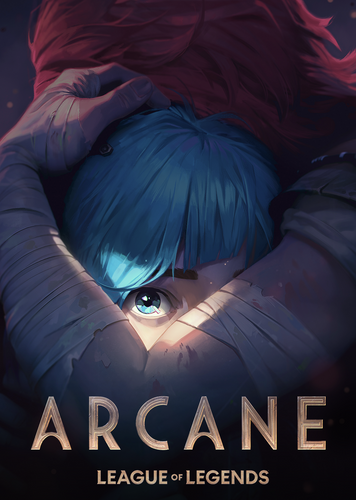 This is the official poster of the upcoming Netflix Anime series, Arcane.