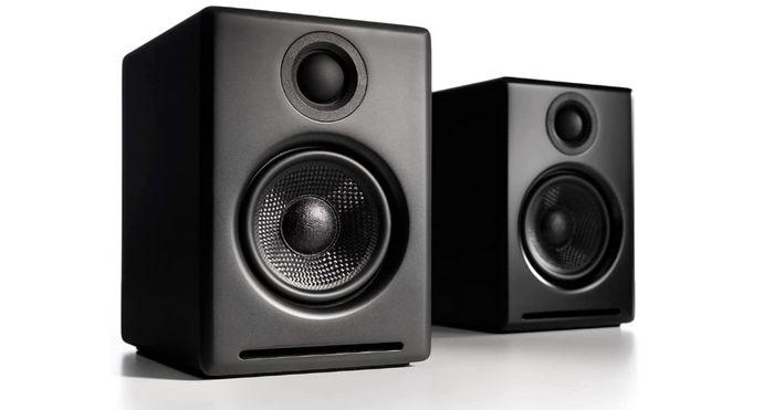 Best desktop speakers audioengine two black speakers side by side