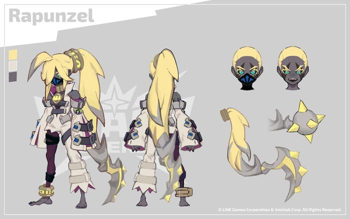 Concept art showing Rapunzel's design in Smash Legends.
