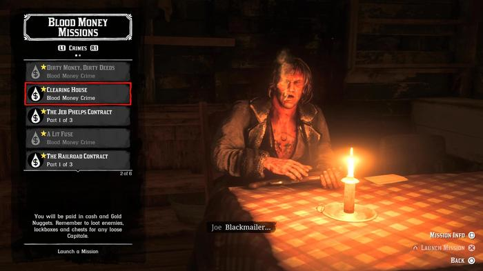 Joe the Crime Mission contact offers Capitale jobs in Red Dead Online Blood Money