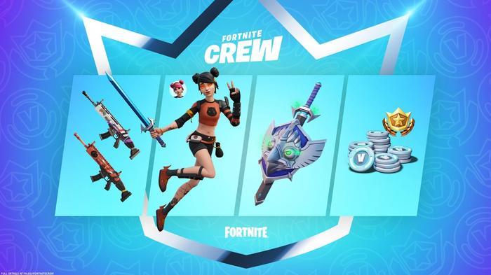 Fortnite Crew August rewards