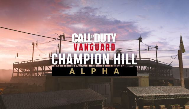 Call of Duty: Vanguard Champion Hill Alpha Logo In Front Of Arena Background
