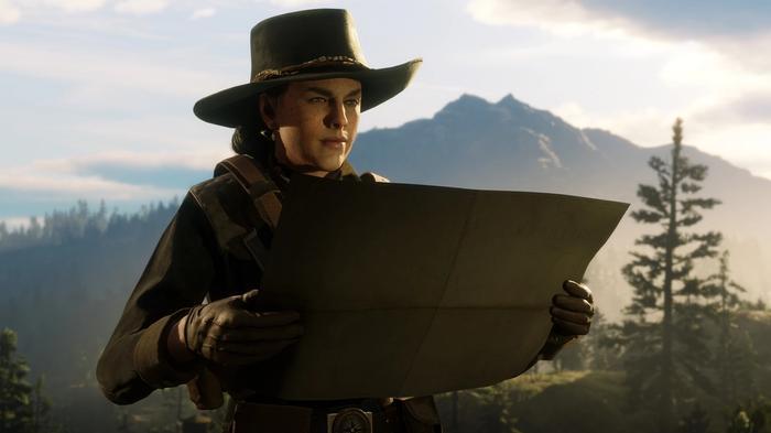 Red Dead Online Cross Platform crossplay - gunslinger reads map